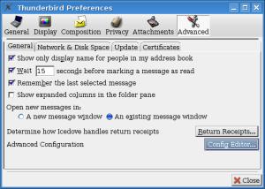 Thunderbird Preferences