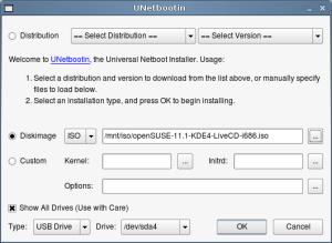 UNetbootin - installing to sda4