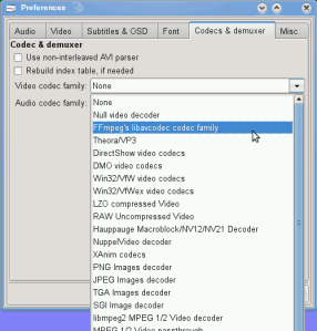 MPlayer ffmpeg video codecs