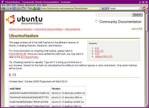 Ubuntu md5sums
