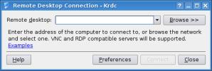 krdc - initial screen