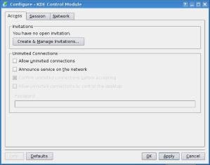 krfb - configure screen