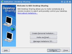 krfb - initial screen
